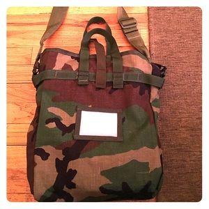 Handbags - Vintage Military Camo Messenger Bag.